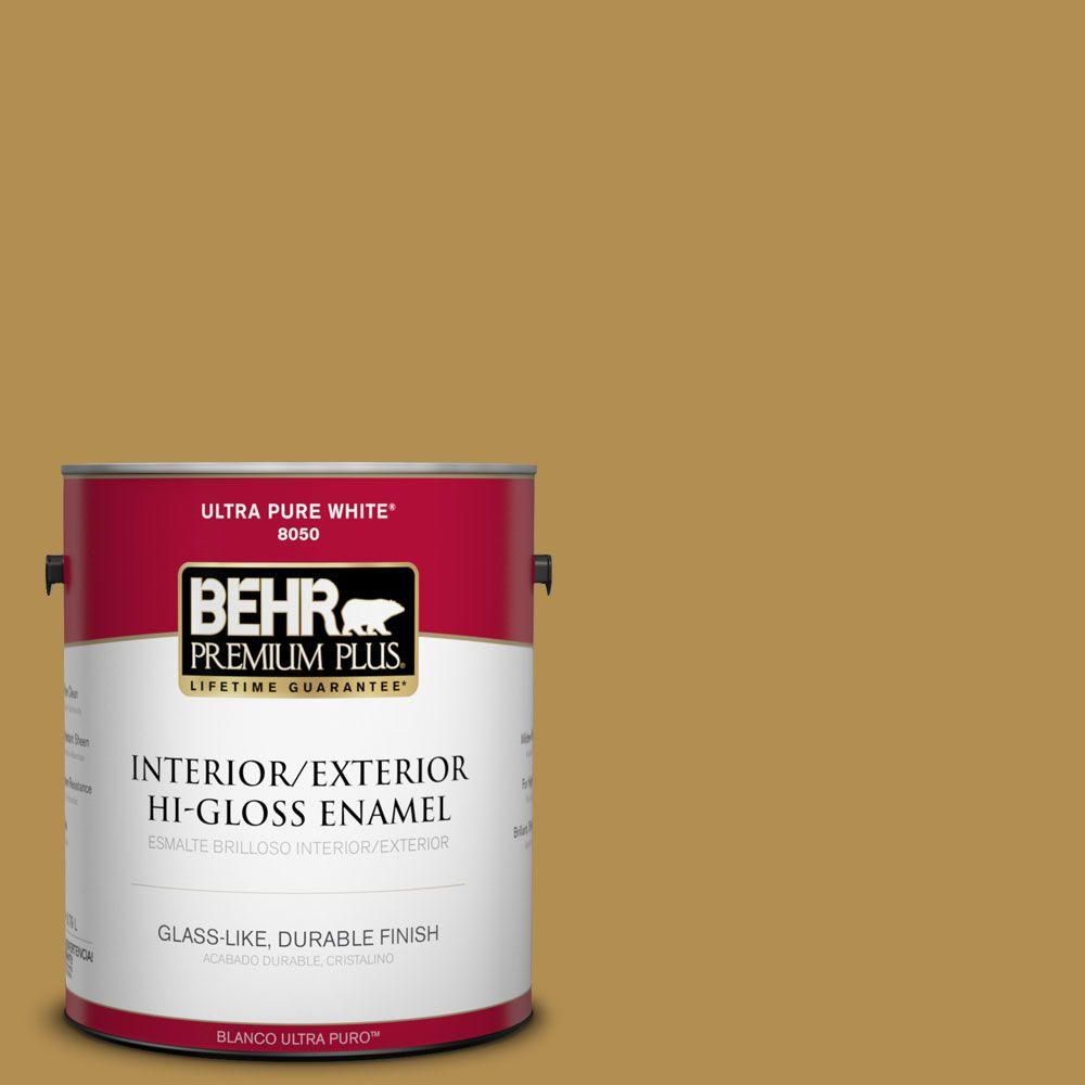 1-gal. #350D-6 Bronze Green Hi-Gloss Enamel Interior/Exterior Paint