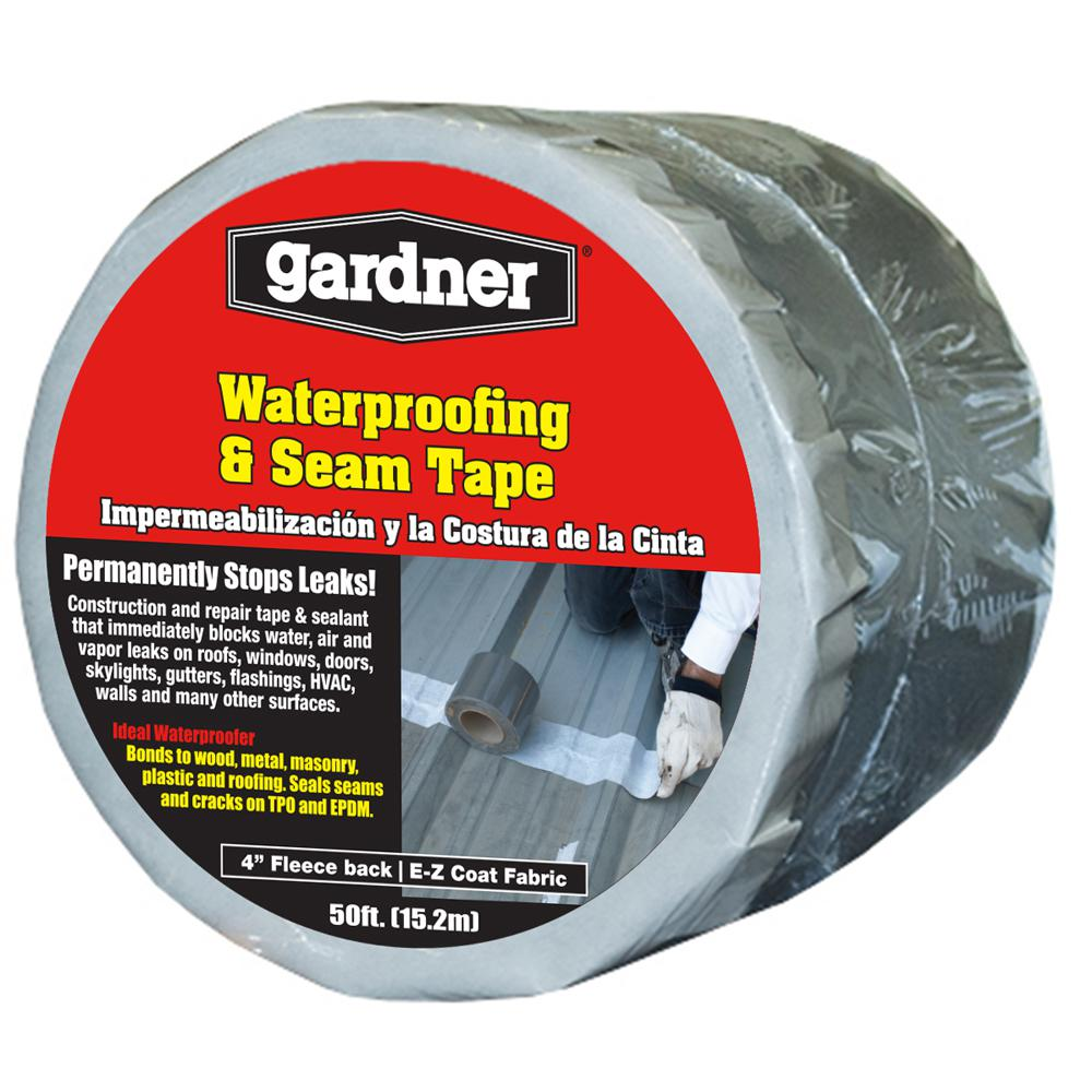 Gardner 4 In X 50 Ft Waterproofing And Seam Tape 4604 Ga The Home Depot