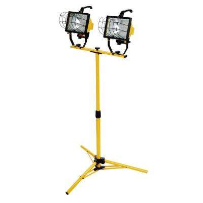 1000-Watt Halogen Telescoping Twin Head Tripod Work Light