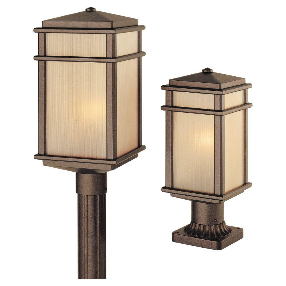 Mission Lodge 1-Light Corinthian Bronze Outdoor Post
