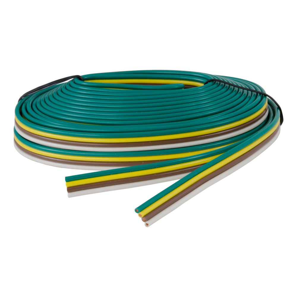 [DIAGRAM_38ZD]  CURT Bonded 4-Way Trailer Wiring (16 Wire Gauge, 25' Spool)-57001 - The  Home Depot | Curt 4 Wire Trailer Wiring Diagram |  | The Home Depot