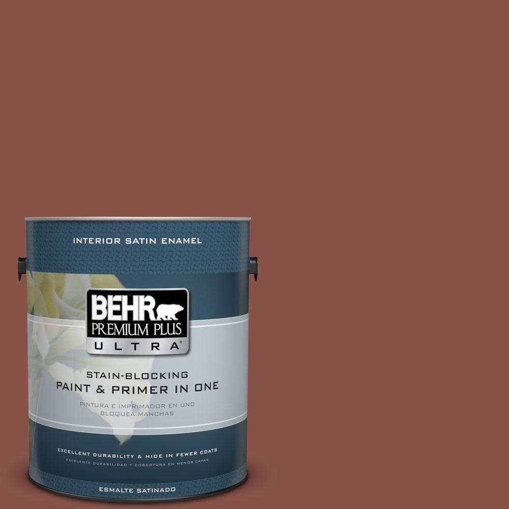 BEHR Premium Plus Ultra 1-Gal. #PPU2-18 Spice Satin Enamel Interior Paint