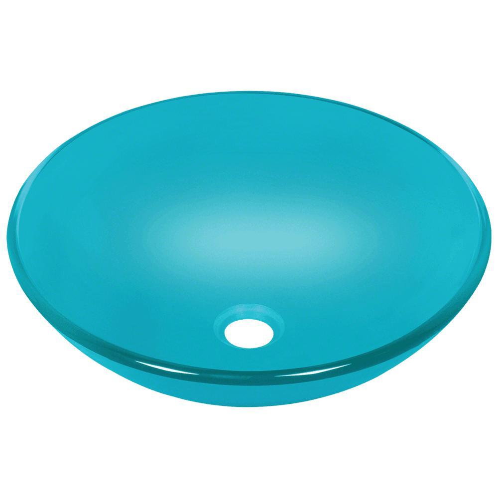 Mr Direct Glass Vessel Sink In Turquoise 601 Turquoise