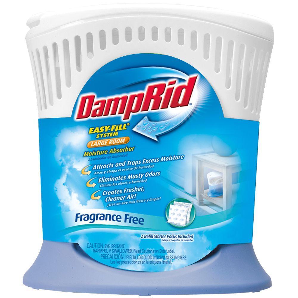 Damprid Easy Fill System 21 Oz Fragrance Free Large Room Moisture