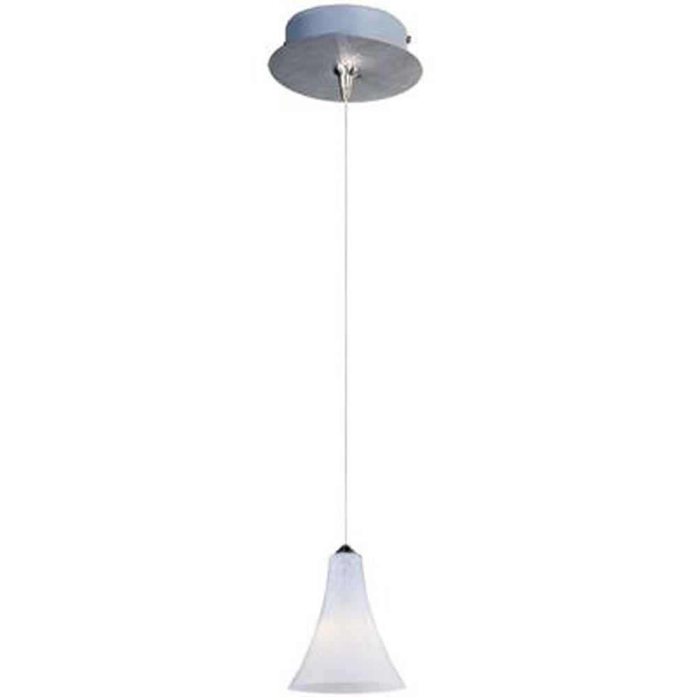 null Leopard 1-Light Satin Nickel RapidJack Pendant and Canopy