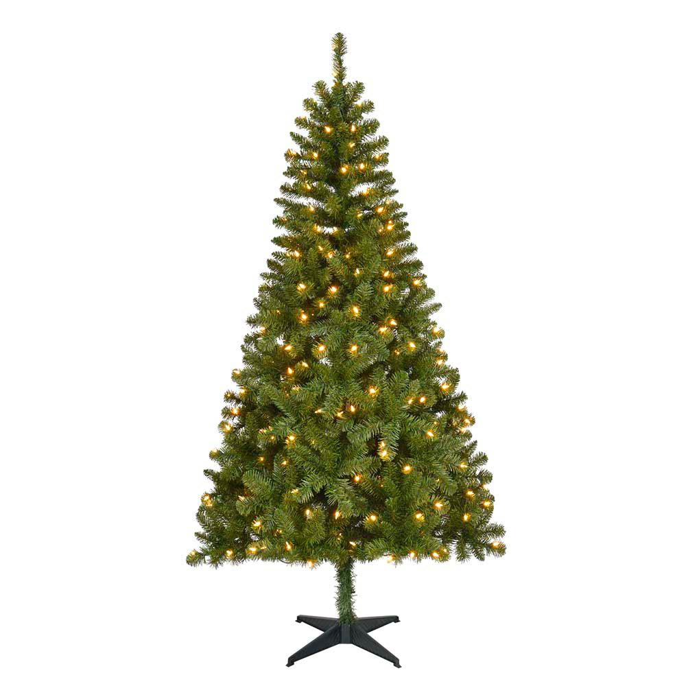 Pre Lit Led Lights Christmas Tree: Home Accents Holiday 6.5 Ft. Pre-Lit LED Festive Pine