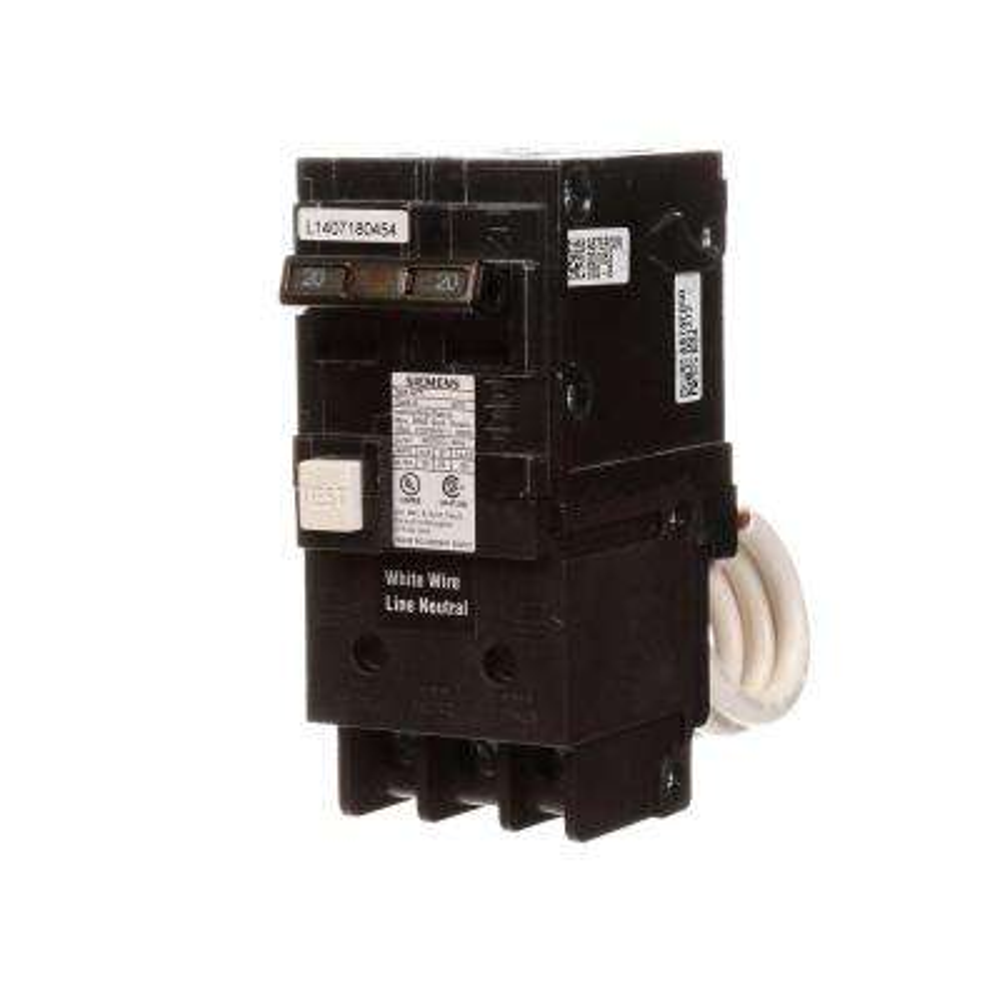 20 Amp Double Pole Type QPF2 GFCI Circuit Breaker