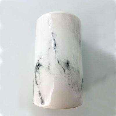Marble Bath Water Tumbler and Toothbrush Holder Dolomite White