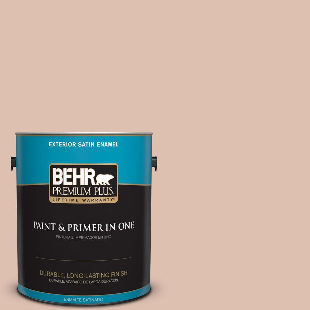 BEHR Premium Plus 1-gal. #S200-2 Cinnamon Tea Satin Enamel Exterior Paint