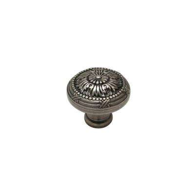 1-17/64 in. Pewter Cabinet Knob