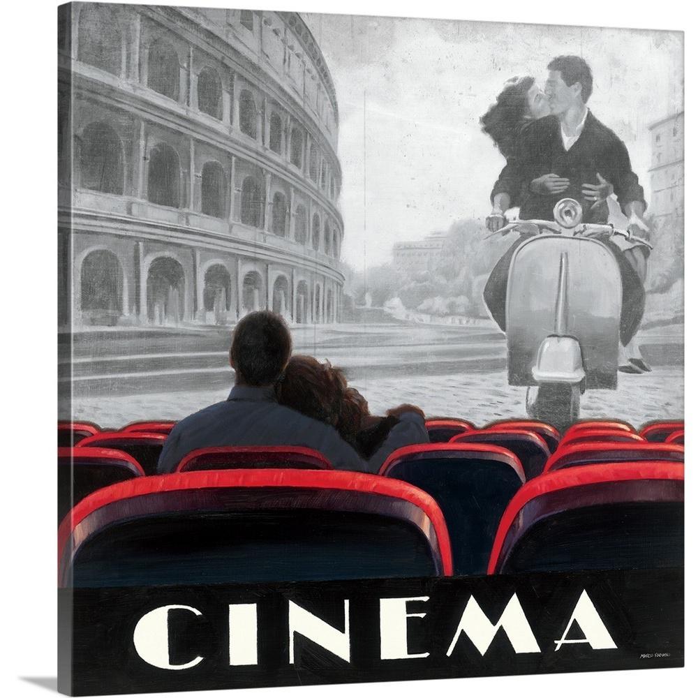 """Cinema Roma"" by Marco Fabiano Canvas Wall Art"
