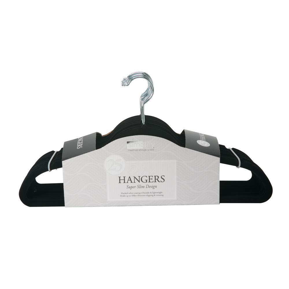 SlimBlack Velvet Suit Hanger (25-Pack)