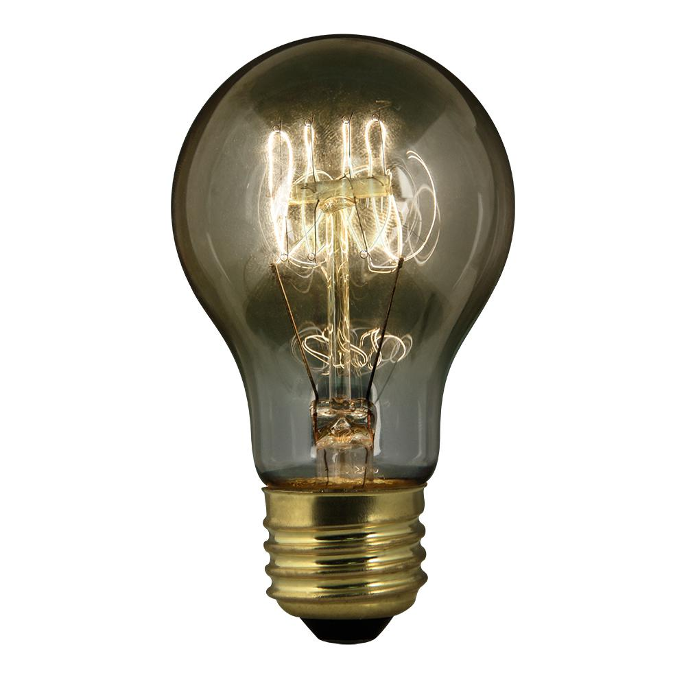 Feit Electric 60-Watt Soft White AT19 Dimmable Incandescent Antique Edison Clear Filament Vintage Style Light Bulb