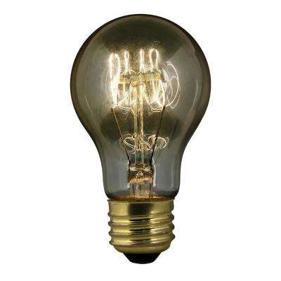 60-Watt Soft White AT19 Dimmable Incandescent Antique Edison Clear Filament Vintage Style Light Bulb