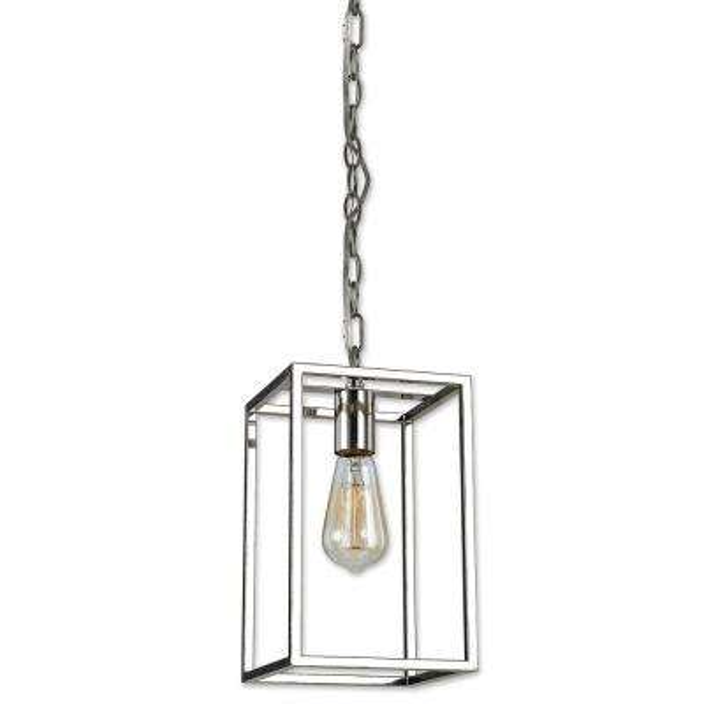 Mateo 1-Light Polished Nickel Pendant