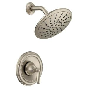 Brantford Posi-Temp Rain Shower Single-Handle Shower Only Faucet Trim Kit in Brushed Nickel (Valve Not Included)