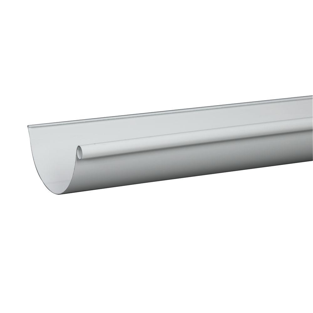 Amerimax Home Products 5 In X 10 Ft White Aluminum High Gloss 80 Degree Gutter L10hg5 The Home Depot