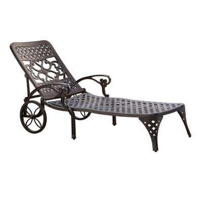 Biscayne Black Patio Chaise Lounge