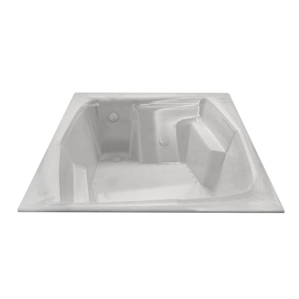 Amethyst 6 ft. Acrylic Rectangular Drop-in Whirlpool Air Bathtub in White