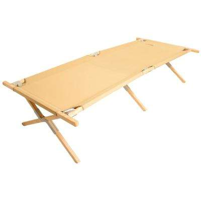 Maine Heritage 84 in. x 30 in. Hard Wood Frame Polyester Cover Cot