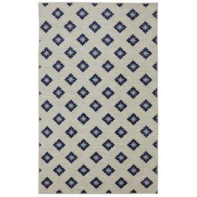 Button Fleur Navy 7 ft. 6 in. x 10 ft. Area Rug