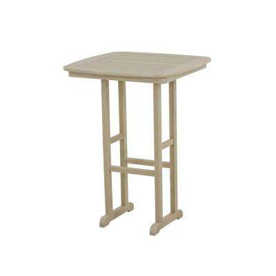 Nautical Sand 31 in. Plastic Outdoor Patio Bar Table
