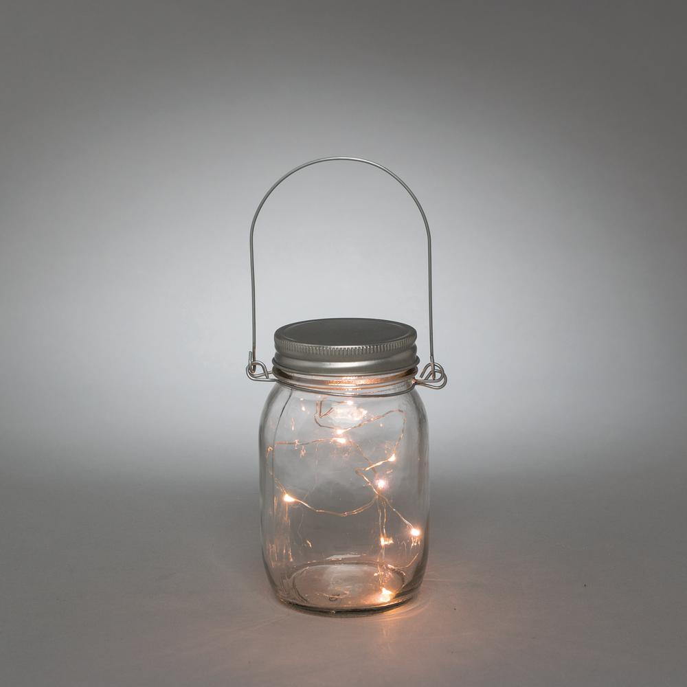 3.5 in. x 5.5 in. Clear LED Lighted Mason Jar