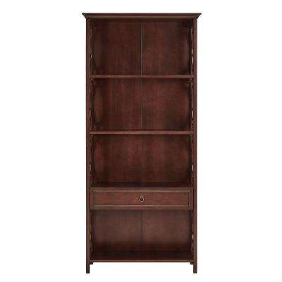 Cathryn Espresso Storage Open Bookcase