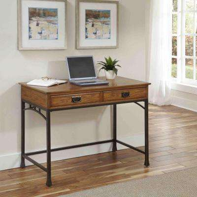 Modern Craftsman Distressed Oak Desk