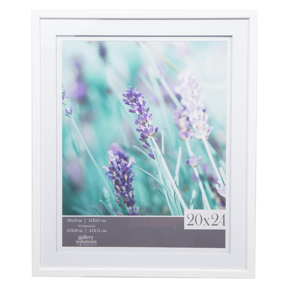 Pinnacle Gallery 16 in. x 20 in. White Double Mat Picture Frame ...