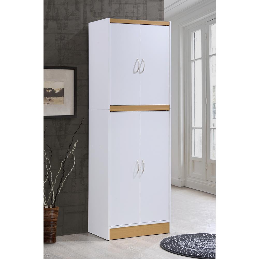 product cfm finish pantry solidhardwoodcottageoakfinishpantrycabinet styles cottage master home cabinet americana hayneedle solid hardwood oak white