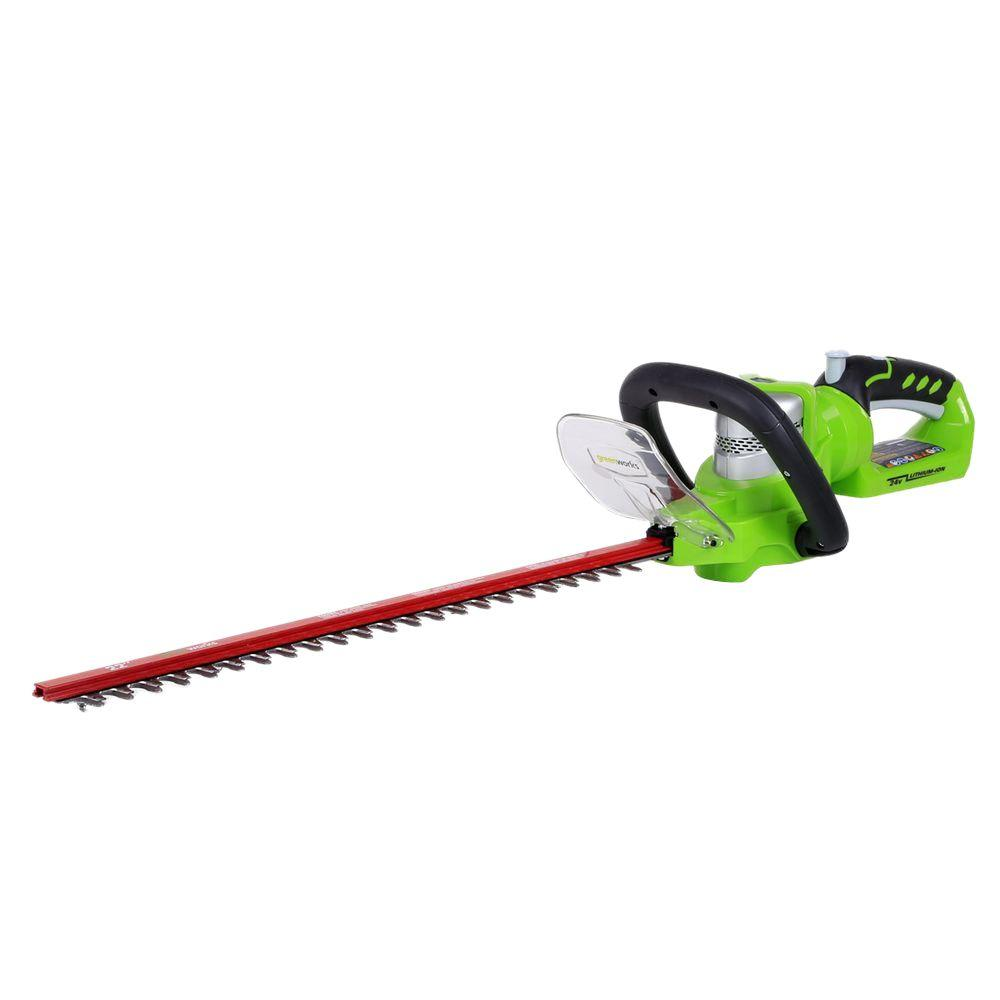 Greenworks G-24 22 in. 24-Volt Cordless Hedge Trimmer - Battery and Charger Not Included