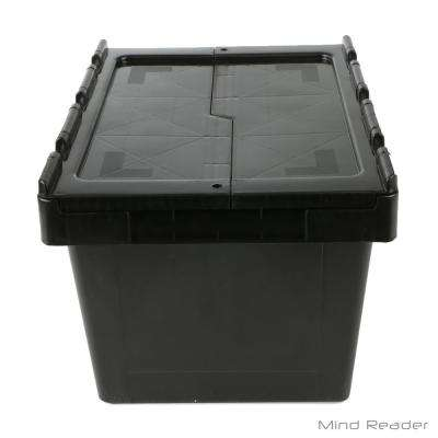 4. Gal Heavy-Duty Flip Top Storage Tote in Black
