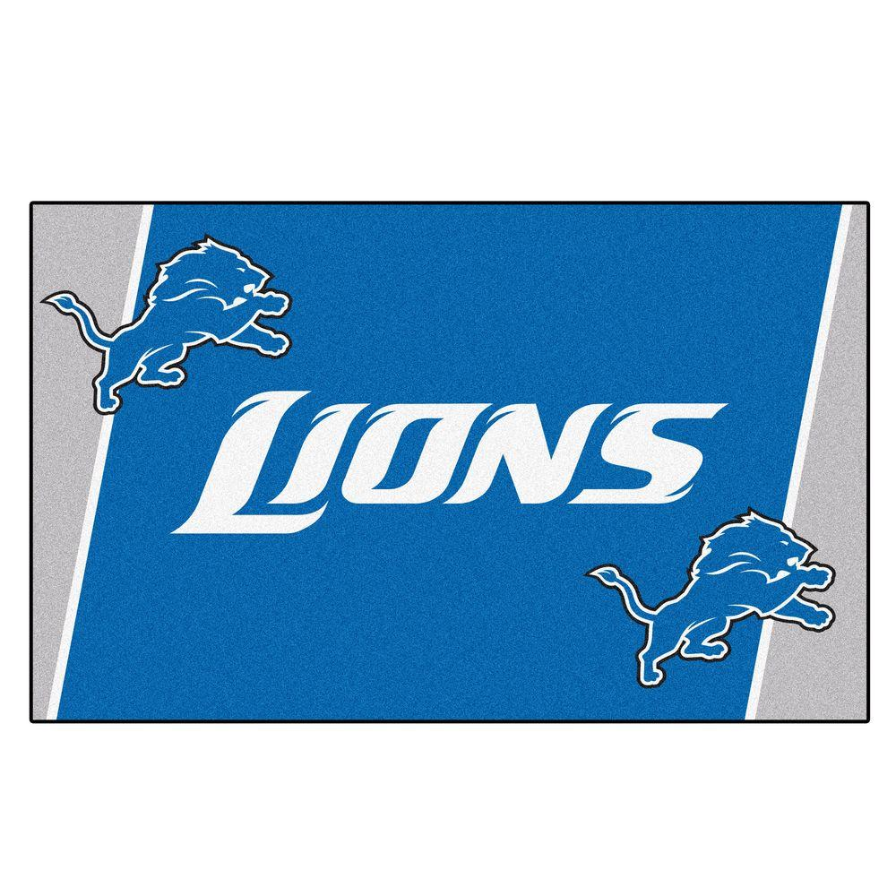 Fanmats Detroit Lions 5 Ft X 8 Ft Area Rug 6574 The