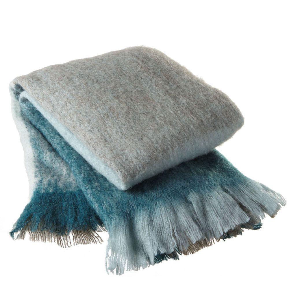 Filament Design Sundry Aqua Wool Throw