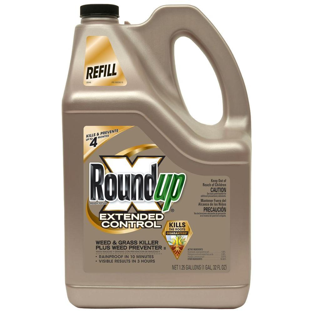 Roundup 1.25 Gal. Ready-to-Use Extended Control Weed and Grass Killer Plus Weed Preventer Refill