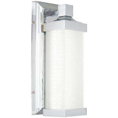 60-Watt Equivalence Chrome Integrated LED Sconce