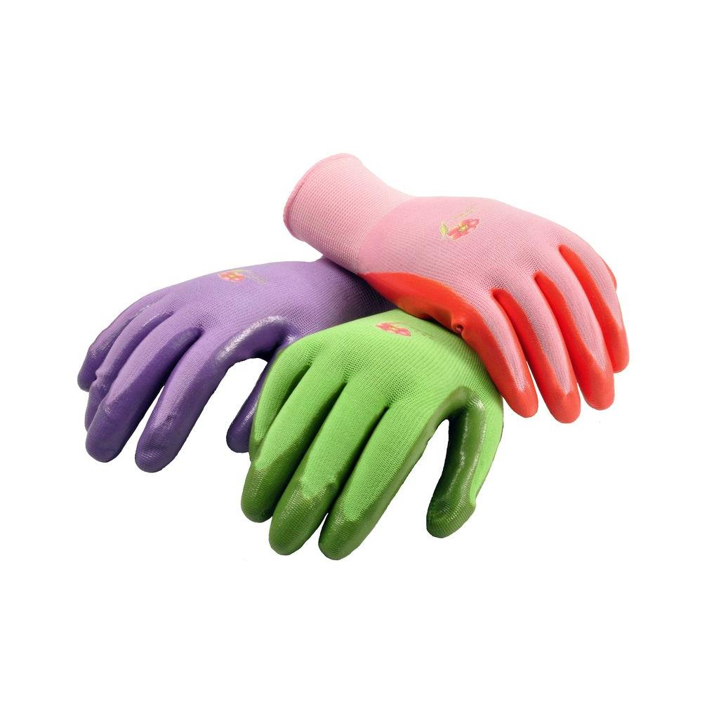 G & F Products Large Women's Assorted Colors Garden Gloves (6-Pack)