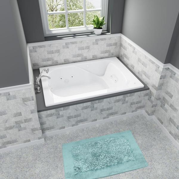 American Standard Evolution 60 In X 36 In Whirlpool Tub With Everclean Reversible Drain In White 2771vc 020 The Home Depot