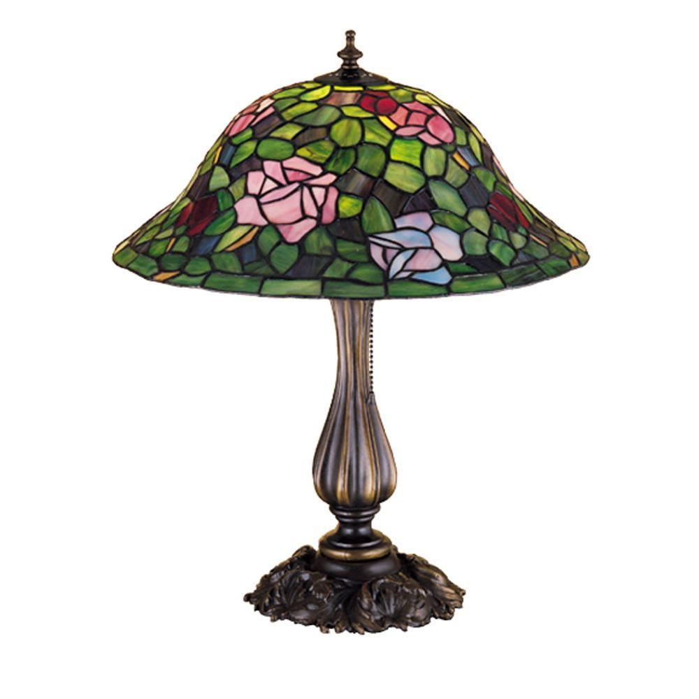 Illumine 1 Light Tiffany Rose Bush Table Lamp