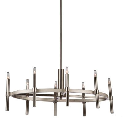 8-Light Polished Nickel Chandelier