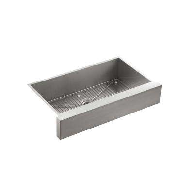 Vault Undermount Stainless Steel 36 in. Single Basin Kitchen Sink Kit