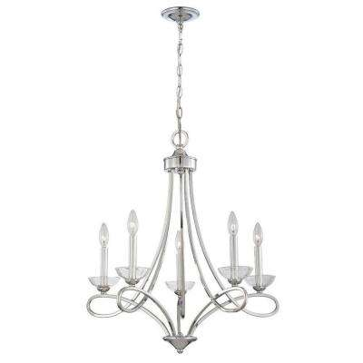 Volte Collection 5-Light Polished Nickel Chandelier