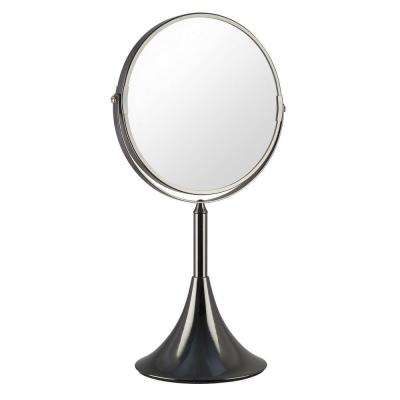 5.75 in. x 16 in. Moderne Mirror in Antique Nickel