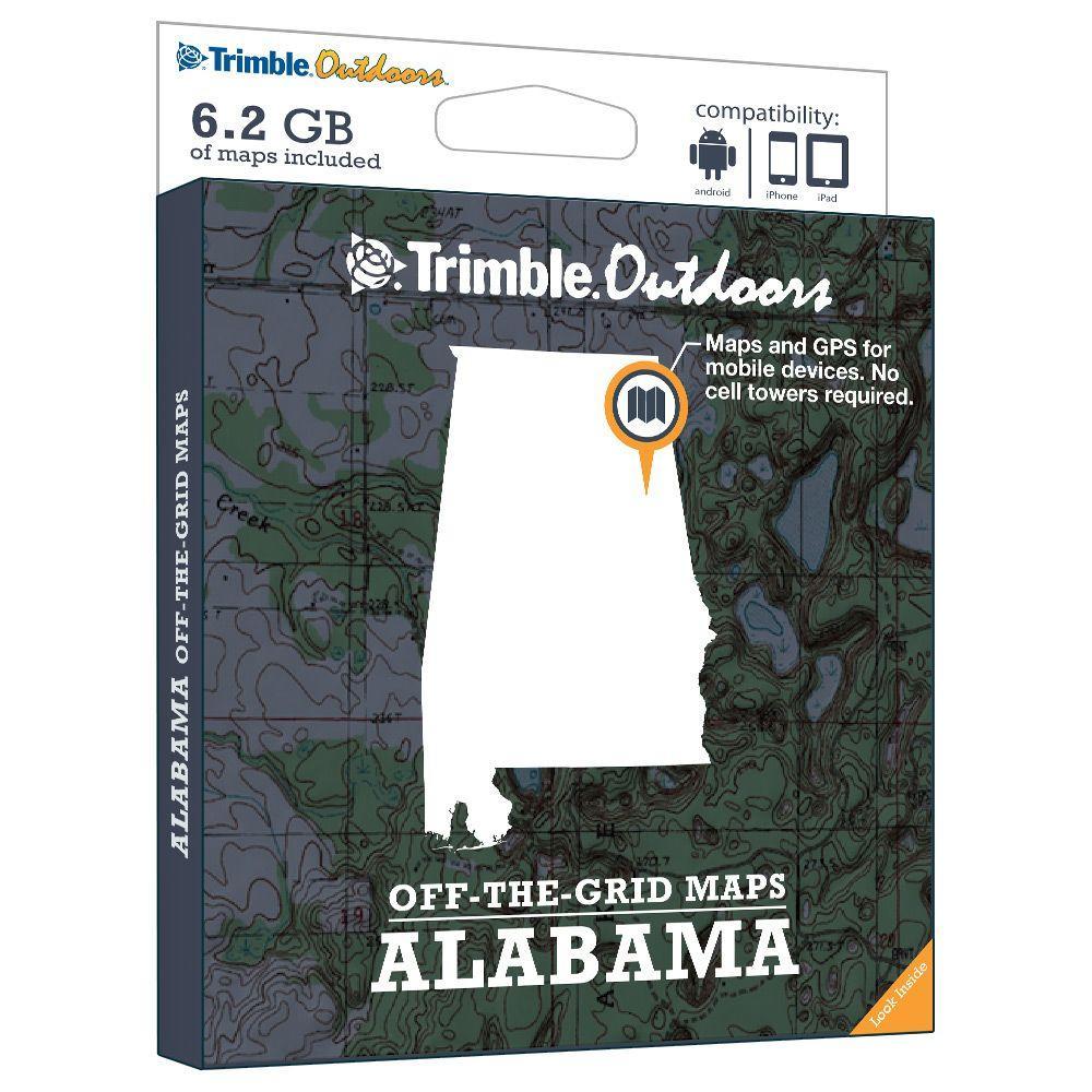 Trimble Outdoors Alabama Off-The-Grid Maps
