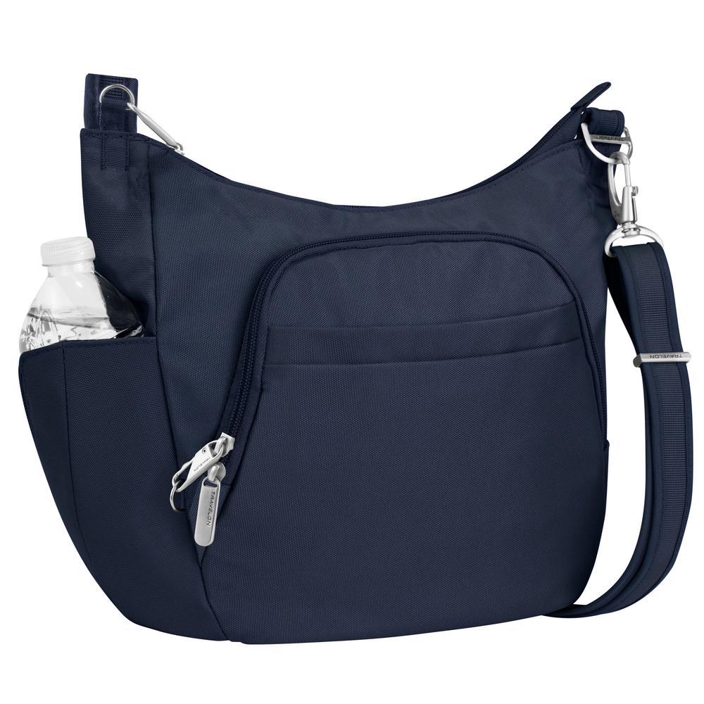 Anti-Theft Midnight Poly Crossbody Bucket Tote Bag