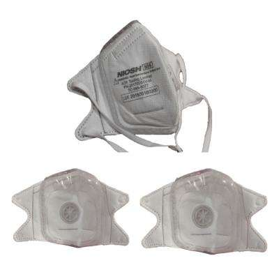Silicon Molded S N95 Certified V-fold Mask with CoolTech Valve (3-pack)
