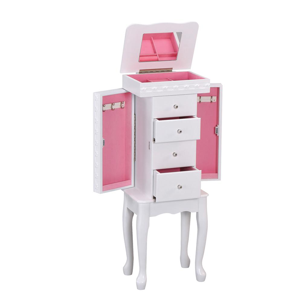 Didi Jewelry Armoire in White