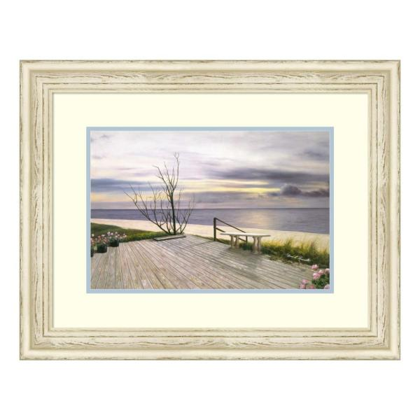 Amanti Art ''Sunset and Flowers'' by Diane Romanello Framed Wall Art