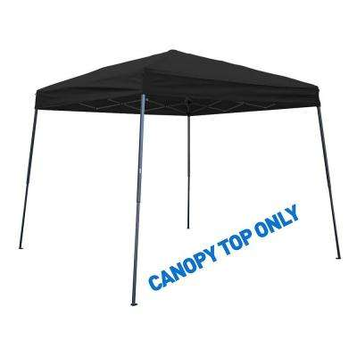 8 ft. x 8 ft. Black Square Replacement Canopy Gazebo Top for 10 ft. Slant Leg Canopy
